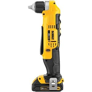 DEWALT DCD740C1 20-Volt MAX Lithium-Ion Compact Right Angle Drill Kit