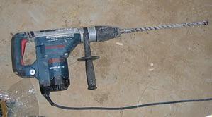 drilling through concrete
