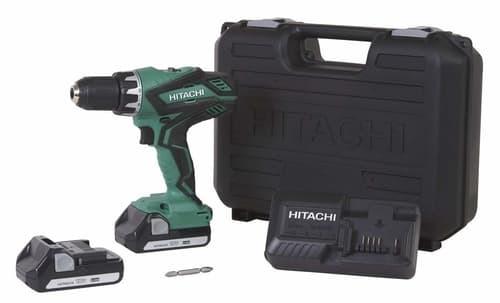 Hitachi DS18DGL 18-Volt Cordless Lithium-Ion 12 Inch Compact Drill Driver Kit