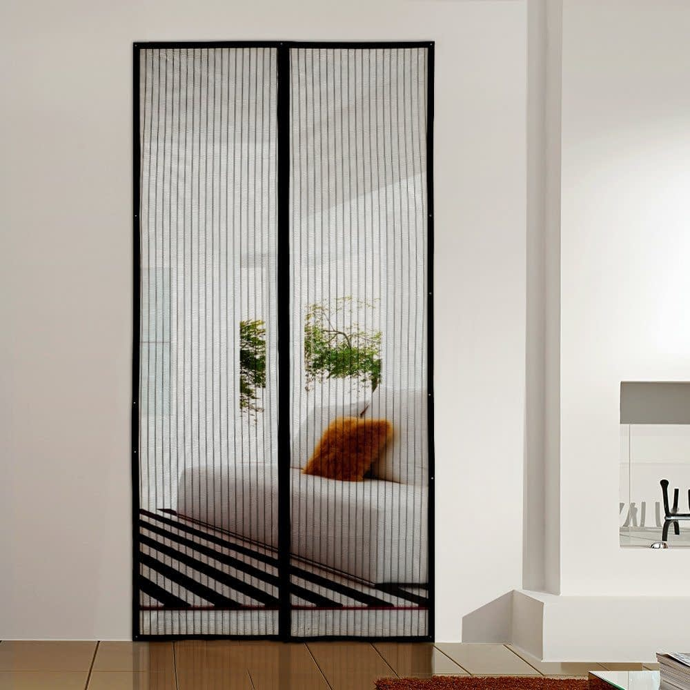 Homitt Magnetic Screen Door with Heavy Duty Mesh Curtain
